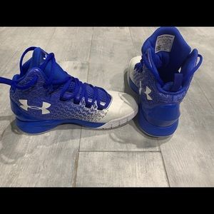 Under Armour Drive Blue White Basketball Sneakers